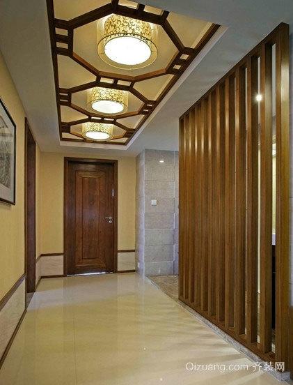 别墅气质独特走廊吊顶装修效果图