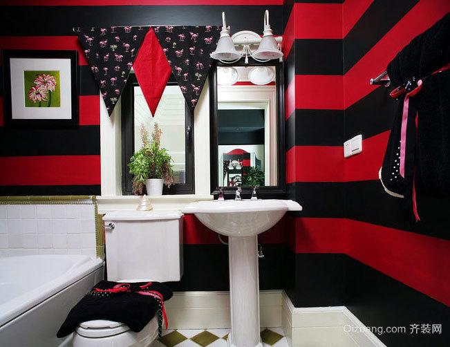 2015打造整洁明亮卫浴室挂件装修效果图