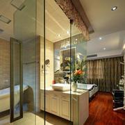 卫生间玻璃隔断案例