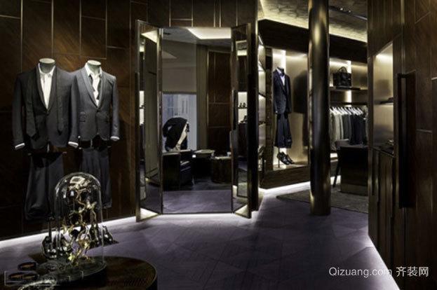 80平米时尚男士西装店装修效果图
