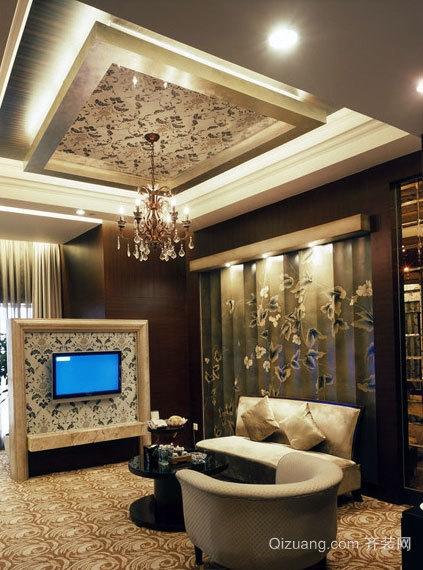 三室一厅时尚唯美客厅装修效果图