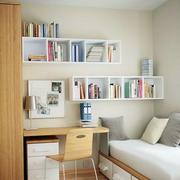 清爽白净书柜装修设计
