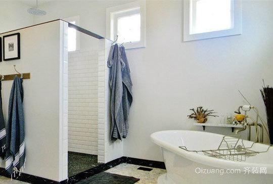 纯净白色卫生间装修效果图