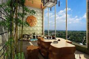 清新风格阳台设计图片