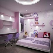 粉色调书桌装修设计
