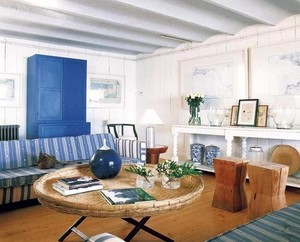个性张扬的地中海风格家庭客厅茶几装修效果图片