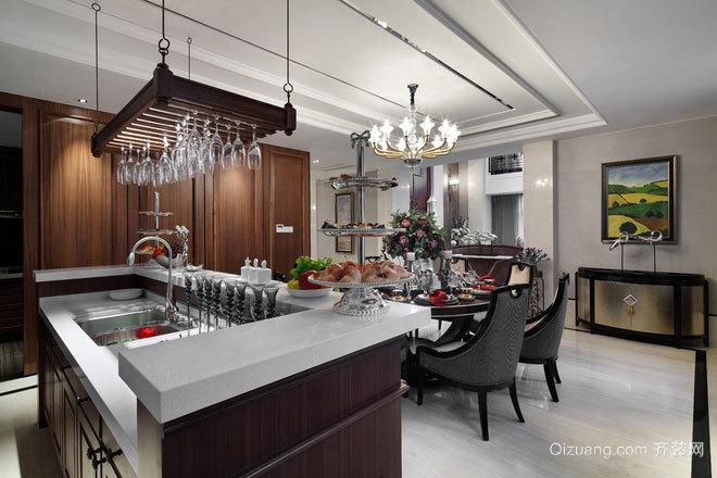 180平米欧式别墅精雕细琢样板房:多功能小厨房