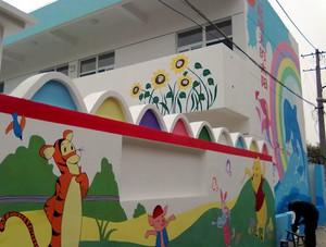 增强创新意识幼儿园手绘墙装修效果图
