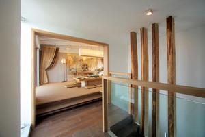 120平米回味旧时光浅中式大客厅房屋装修效果图