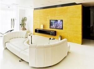 铸造不一样的个性 混搭风格客厅电视背景墙装修效果图