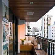 简朴风格阳台设计图片