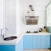 蓝色调厨房装修设计