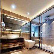温馨型卫生间玻璃隔断