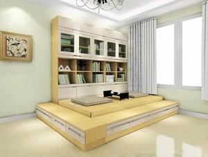 小改造大用途时尚简约书房榻榻米装修效果图