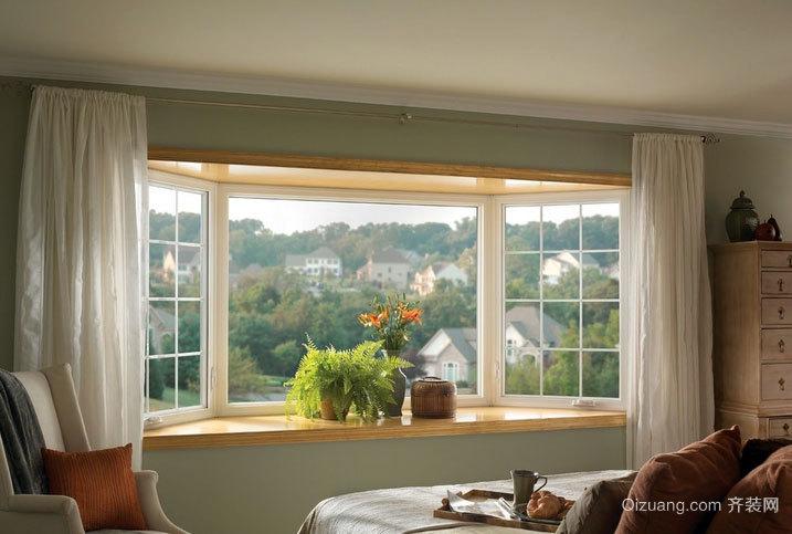 中式复式楼宜家风格飘窗窗帘装修效果图
