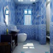紫色调卫生间设计