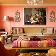 粉色调装饰画图片
