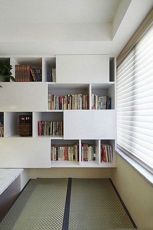 120平米三居室现代简约北美风情地板装修效果图
