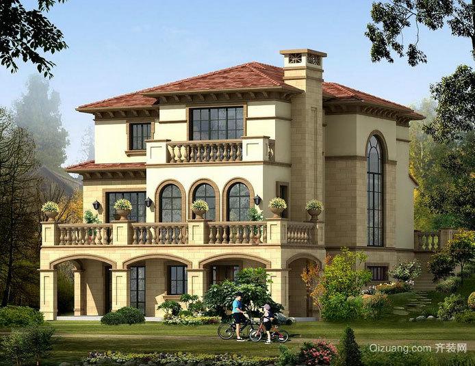 格局别致的钢结构别墅装修效果图