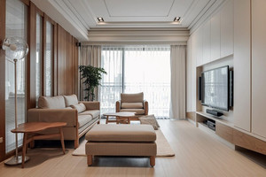 欧式简约镂空隔断卧室装修效果图