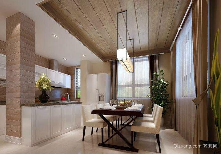 自然才是美的169平米木屋别墅实木吊顶装修效果图