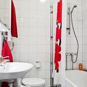 白色简约浴室装修图片