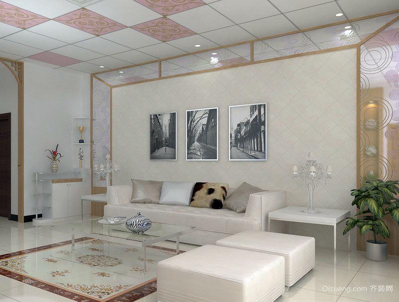 2015贵族色彩浓郁的懒人沙发背景墙装修效果图大全