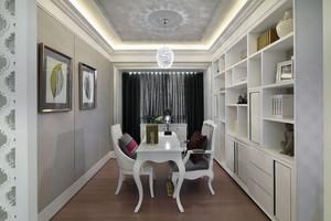 120平米三居室去繁从简演绎欧式风味的样板房装修效果图