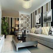 清爽风格客厅背景墙