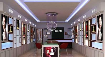 80平米专为女性设计的时尚化妆品店装修效果图