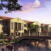河岸边别墅设计图片