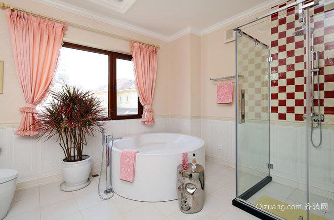 20平米专为公寓设计的都市混搭风格卫生间装修效果图