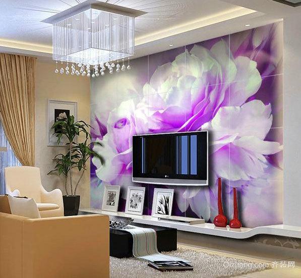 视觉的享受 唯美客厅电视背景墙效果图