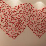 心形墙贴设计图片