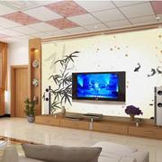 创意型客厅电视背景墙