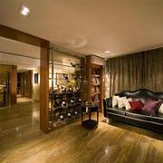 木色酒柜设计图片
