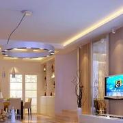 暖色调客厅电视背景墙