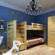 儿童房双人床设计