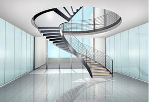 层次分明铁艺旋转楼梯装修效果图