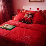 红色调婚房装修设计