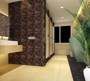 暖色调厕所设计图片