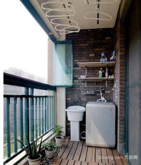 家与自然的接口:别墅阳台装修效果图