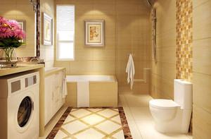 干净如镜:上档次卫生间瓷砖效果图