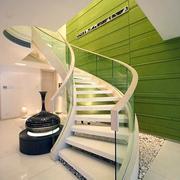 清新风格楼梯装修设计