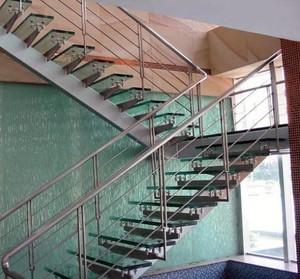 2015安全耐用农村自建房不锈钢楼梯扶手装修设计效果图