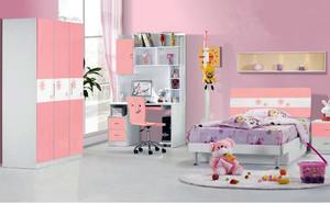 粉色调儿童房间设计