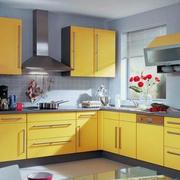 黄色调橱柜装修图片