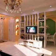 温馨型电视墙设计