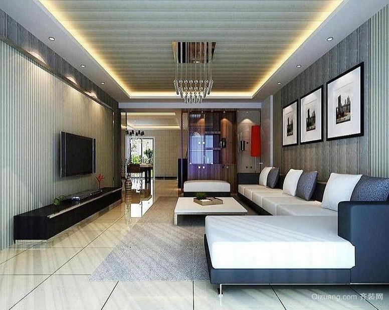 无限的吸引:大型客厅集成墙面装饰效果图实例鉴赏