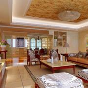 温馨型客厅吊顶装修